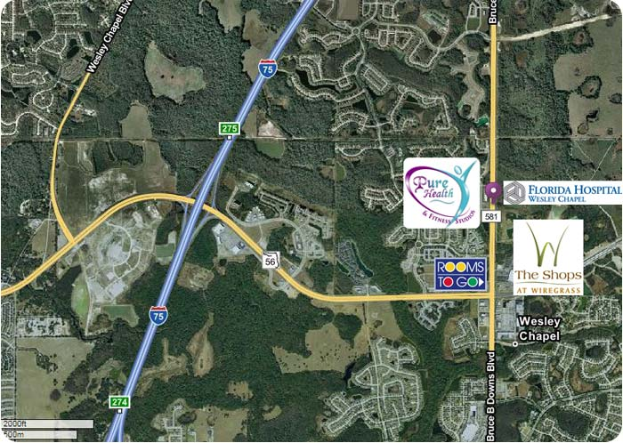 Map to Wesley Chapel Location